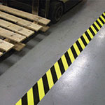 self adhesive hazard warning floor marking tape