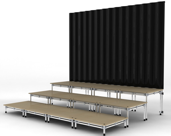 Modular stage system | FlowTube | staging system for schools