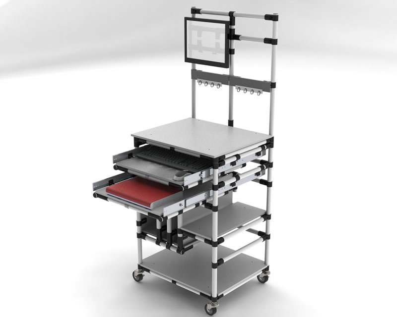 Ergonomic Assembly Workstation : Lean workstations flowtube work benches assembly